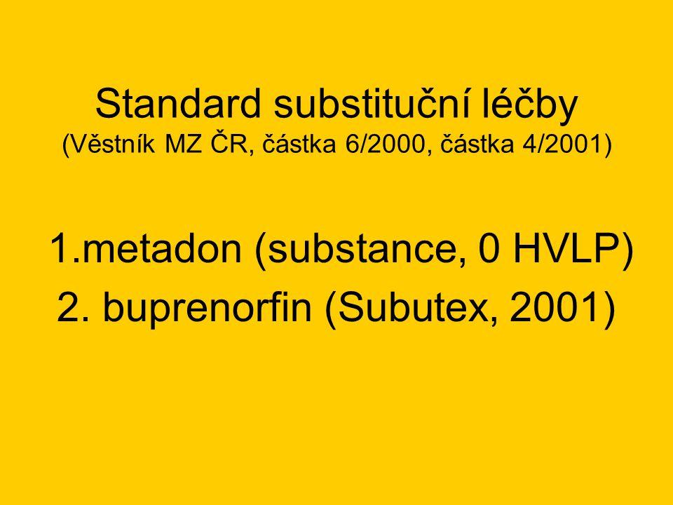 Substituce Subutexem v ČR - negativní trendy •výskyt Subutexu na černém trhu (50%) •na otevřené drogové scéně někde převyšují počty uživatelů Subutexu počty uživatelů heroinu •i.v.