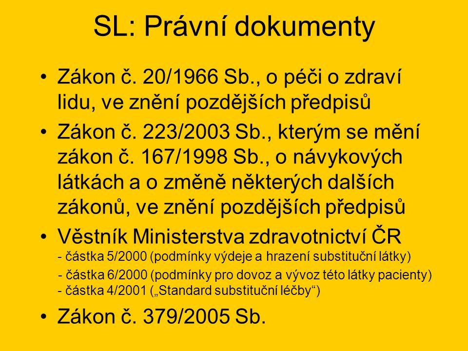 SL: Právní dokumenty •Zákon č.