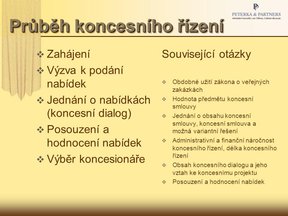 Koncesní smlouva  Definice koncesní smlouvy a její obsahové náležitosti  Druhy koncesních smluv  Vznik koncesní smlouvy a jednání o jejím obsahu