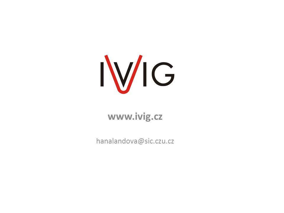 www.ivig.cz hanalandova@sic.czu.cz