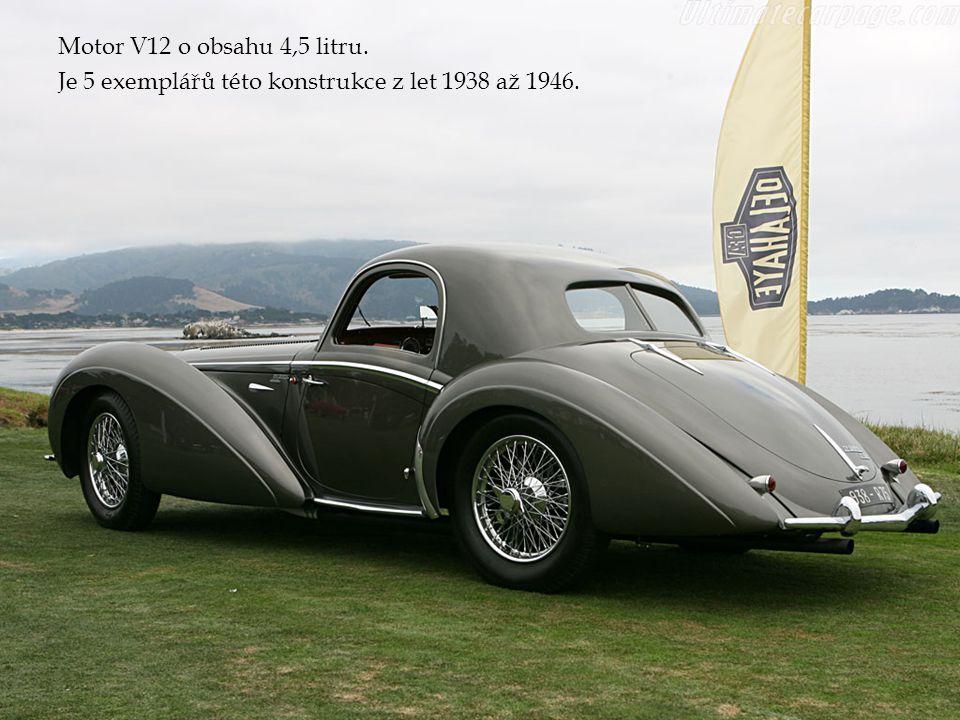 Motor V12 o obsahu 4,5 litru. Je 5 exemplářů této konstrukce z let 1938 až 1946.