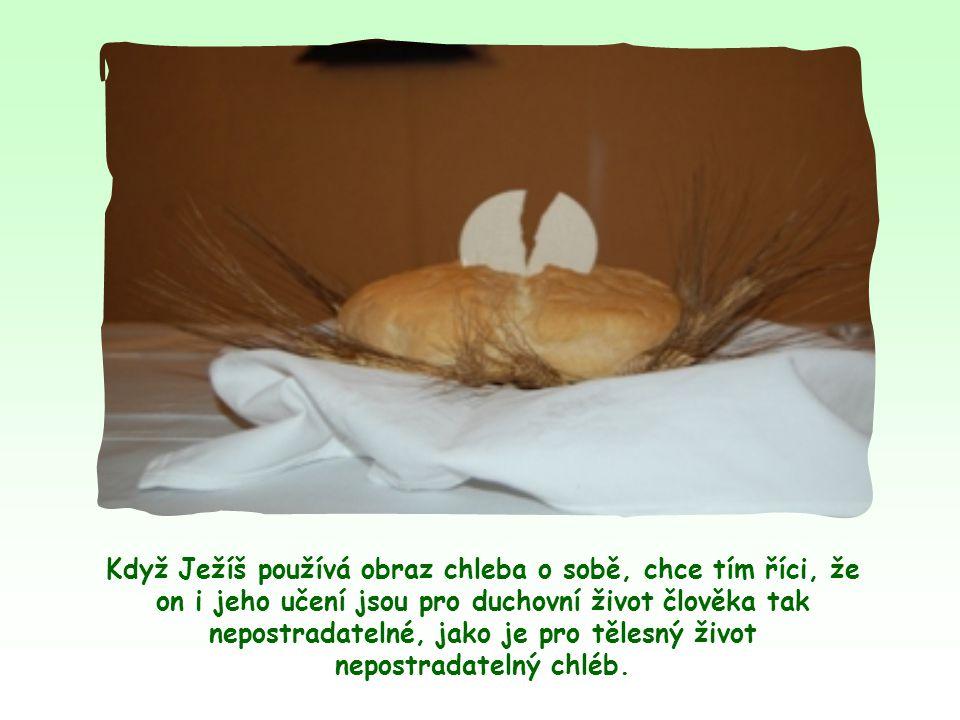 Obraz chleba se v Bibli vyskytuje často, podobně jako obraz vody.