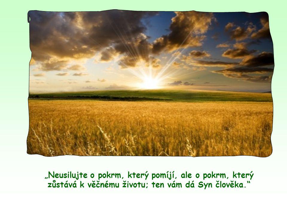 Právě tím, že se člověk snaží uskutečňovat jeho slovo, dochází k plné víře v něho, vychutnává jeho slovo, jako když s chutí pojídá vonící a chutný chléb.