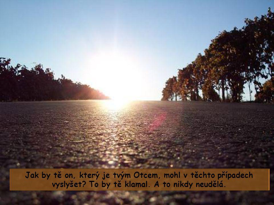 Možná prosíš o něco, co nezapadá do Božího plánu s tebou a Bůh to nevidí jako užitečné pro tvůj pozemský nebo věčný život, nebo to pokládá přímo za šk