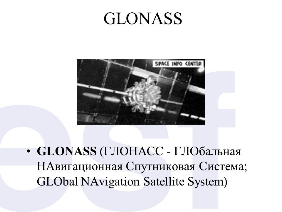 GLONASS •GLONASS (ГЛОНАСС - ГЛОбальная НАвигационная Спутниковая Система; GLObal NAvigation Satellite System)