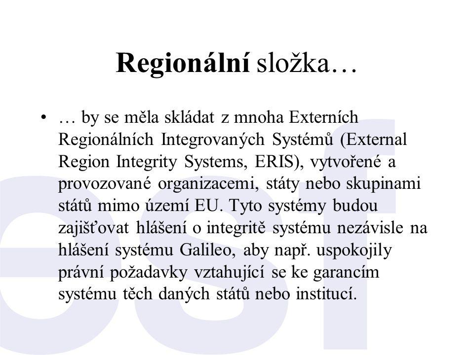 Regionální složka… •… by se měla skládat z mnoha Externích Regionálních Integrovaných Systémů (External Region Integrity Systems, ERIS), vytvořené a p