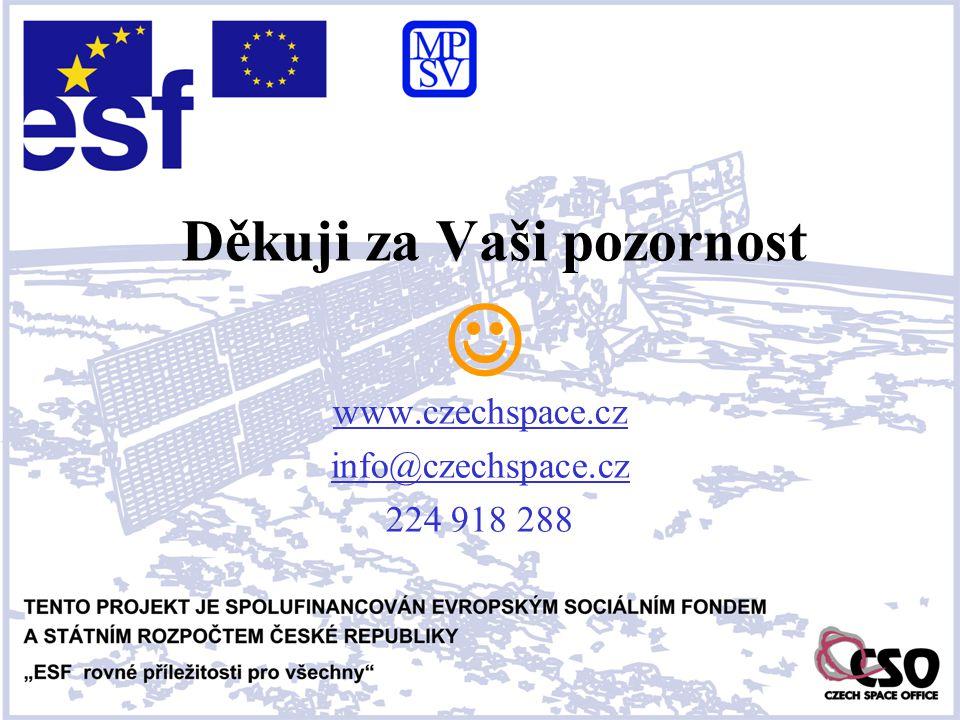 www.czechspace.cz info@czechspace.cz 224 918 288 Děkuji za Vaši pozornost 