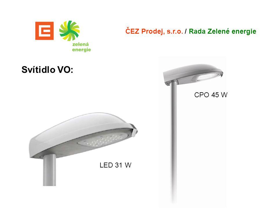 Svítidlo VO: ČEZ Prodej, s.r.o. / Rada Zelené energie LED 31 W CPO 45 W