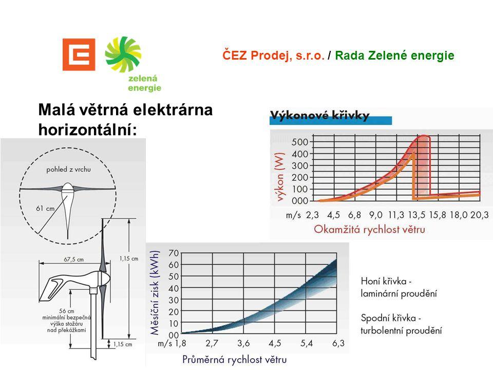 Malá větrná elektrárna horizontální: ČEZ Prodej, s.r.o. / Rada Zelené energie