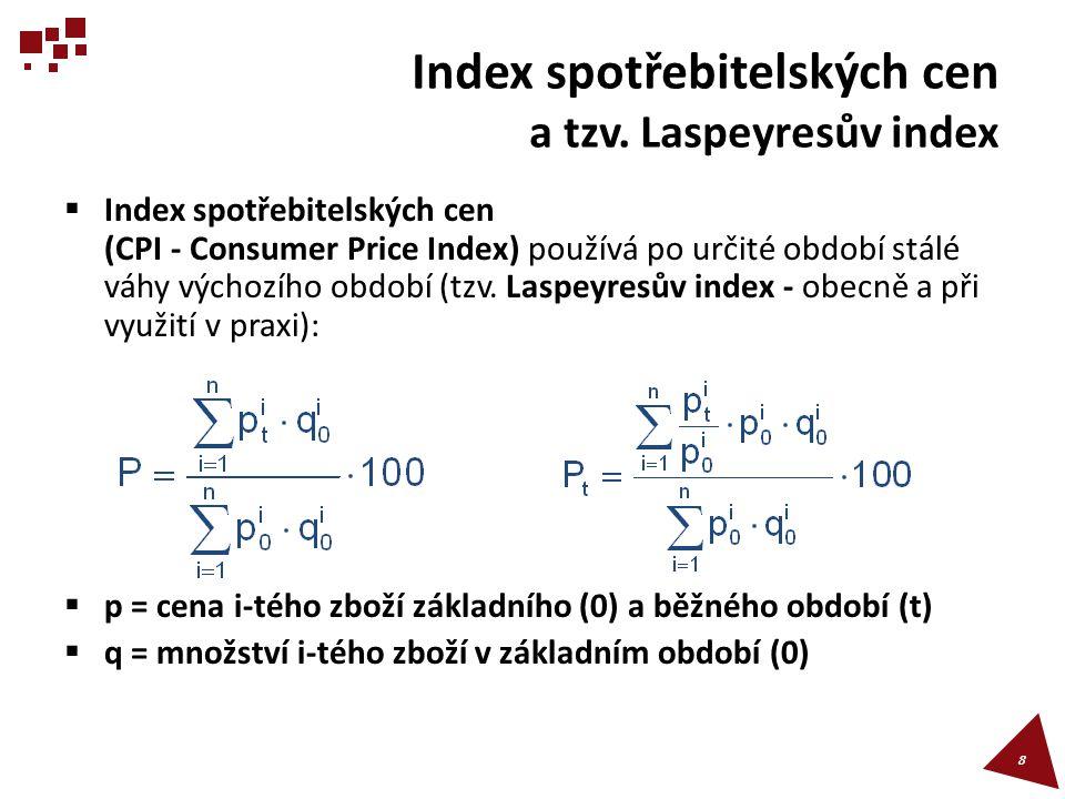 Index cen výrobců (PPI – Producer Price Index)  Index cen výrobců (PPI – Producer Price Index) se sleduje pro různá odvětví a obory (např.