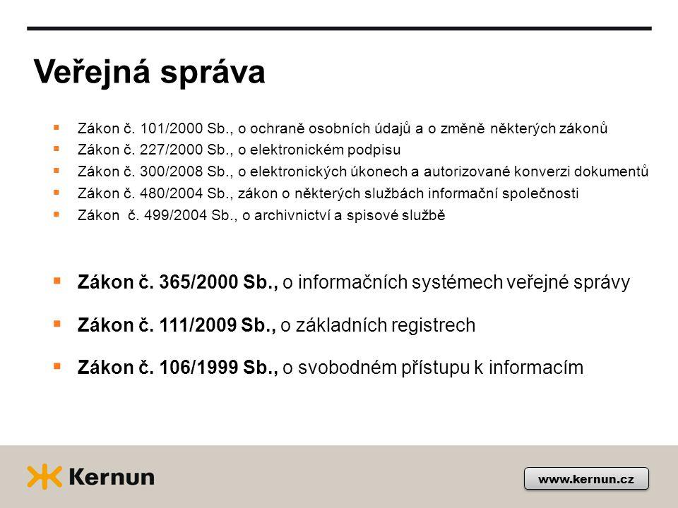 Veřejná správa www.kernun.cz  Zákon č.