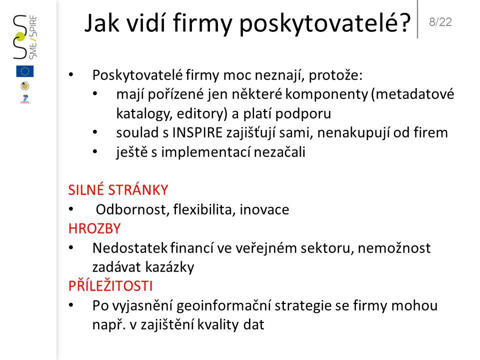 8/22 Jak vidí firmy poskytovatelé.