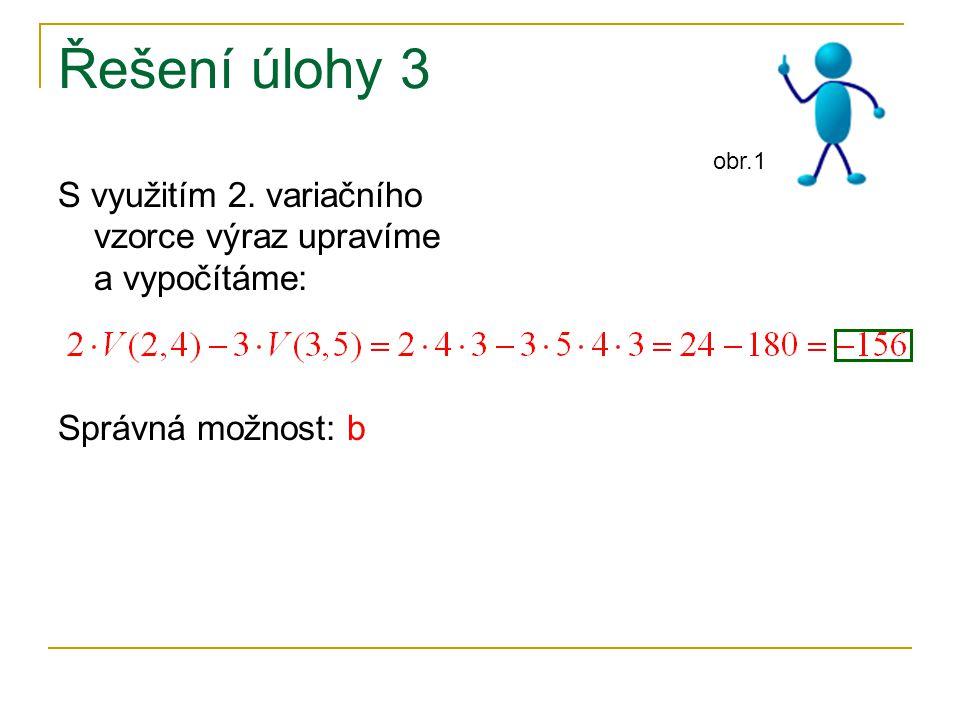Řešení úlohy 3 S využitím 2.