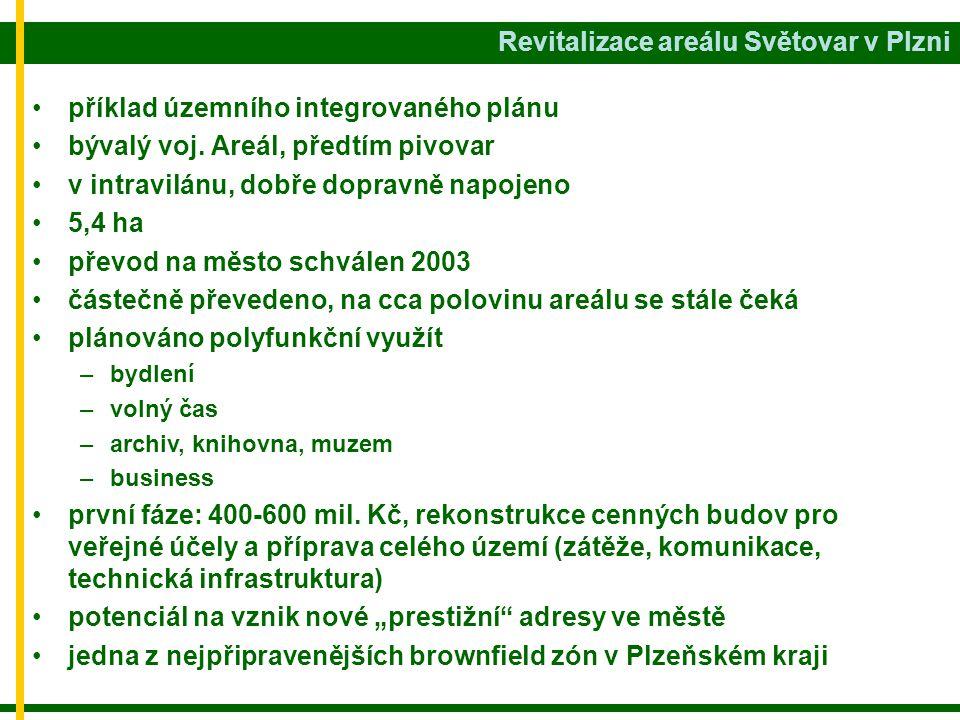 Revitalizace areálu Světovar v Plzni • •příklad územního integrovaného plánu • •bývalý voj.