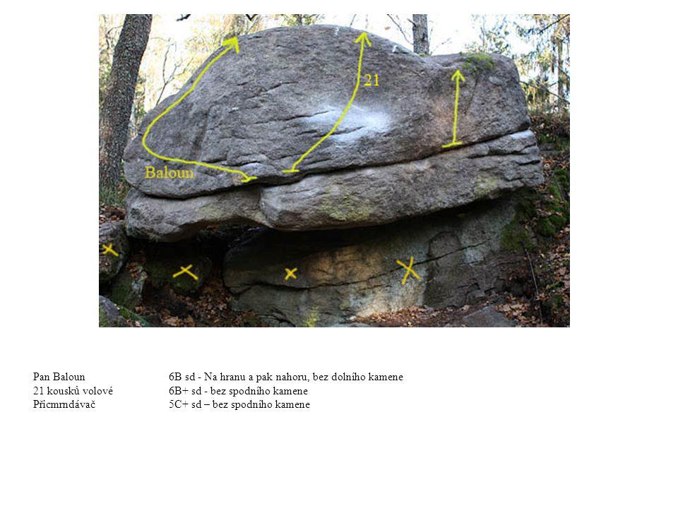 Pan Baloun6B sd - Na hranu a pak nahoru, bez dolního kamene 21 kousků volové6B+ sd - bez spodního kamene Přicmrndávač5C+ sd – bez spodního kamene