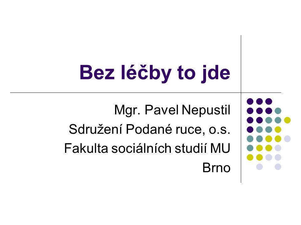 Bez léčby to jde Mgr. Pavel Nepustil Sdružení Podané ruce, o.s. Fakulta sociálních studií MU Brno