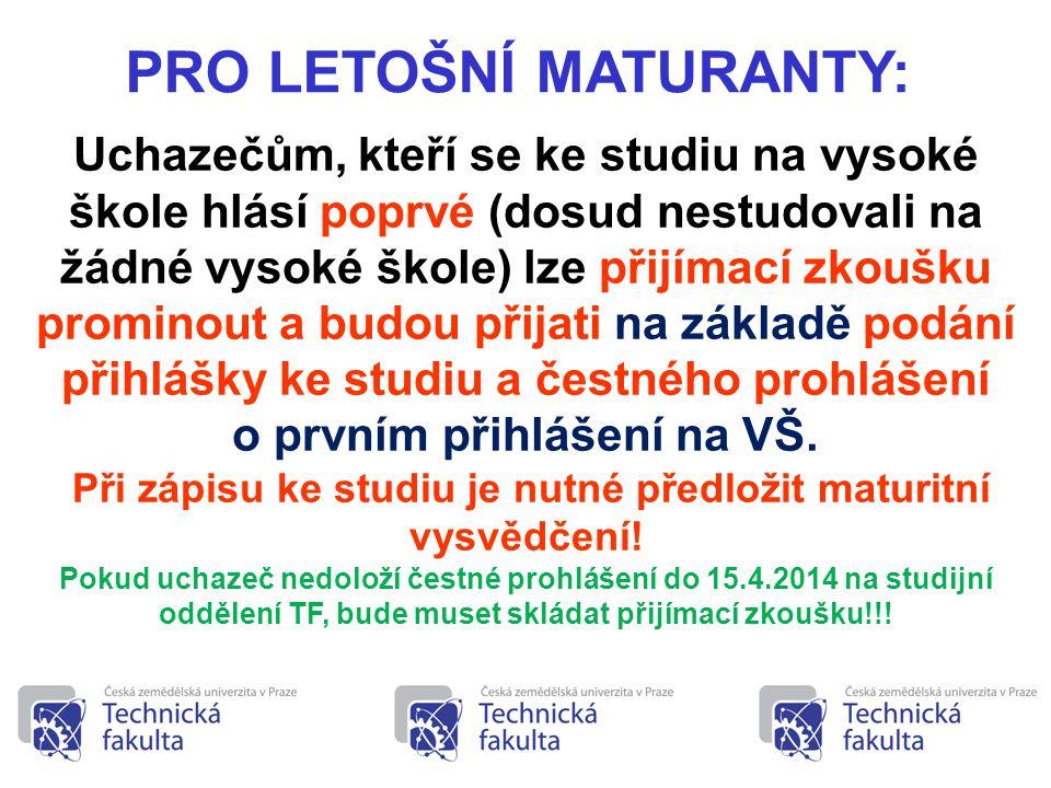 18 •Studijní programy technických oborů bakalářského studia mají společný dvouletý odborně teoretický základ.