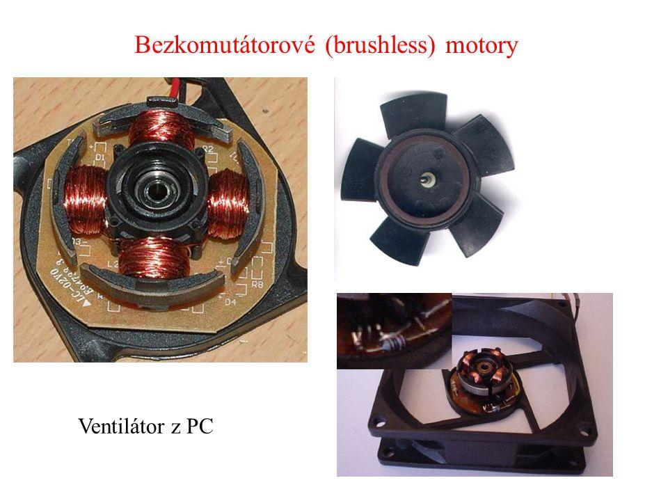 Ventilátor z PC Bezkomutátorové (brushless) motory