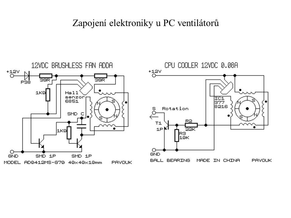 Zapojení elektroniky u PC ventilátorů