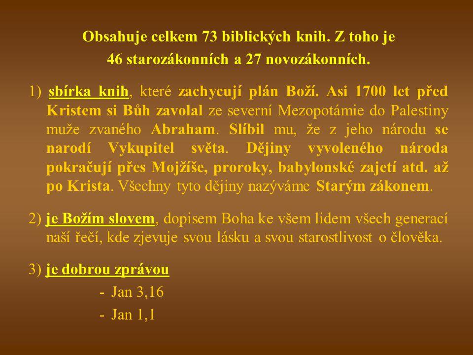 Epištolaspis týkající se nějaké obecné náboženské otázky ve formě dopisu (Židům, Efesanům, listy Římanům) Podobenstvípříběh; literární útvar podávající nejčastěji mravní poučení vyprávěním analogického (podobného) příběhu, nejčastěji ze života člověka Jer 13,1-11; Lk 6,47; Lk 8,4; Proroctvímá dvojí význam: buď je to slovo Boží k lidem skrze proroka vztahující se na minulost, přítomnost i budoucnost, anebo předpověď budoucnosti.