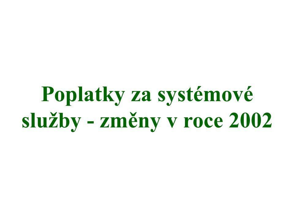 Poplatky za systémové služby - změny v roce 2002
