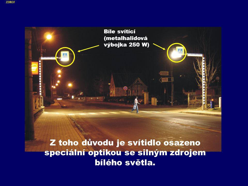Také stožár s výložníkem je umístněn vždy před přechodem ze směru příjezdu řidiče Stožár UMÍSTNĚNÍ STOŽÁRŮ