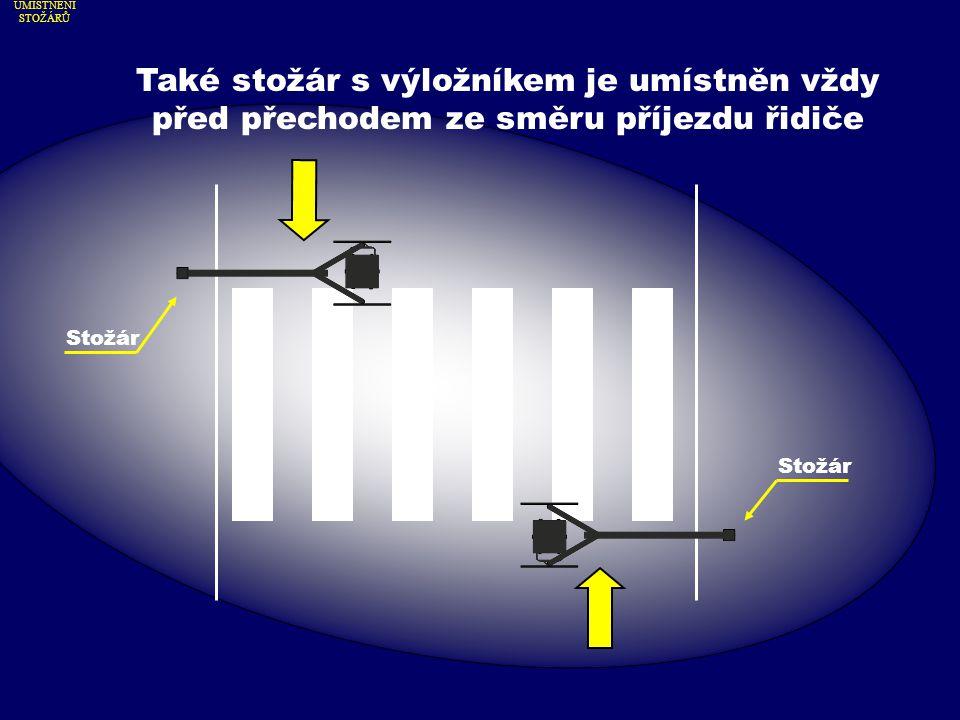 Světlo je díky speciální optice směrováno na přecházejícího chodce.