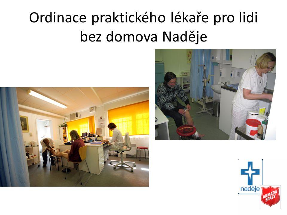 Ordinace praktického lékaře pro lidi bez domova Naděje