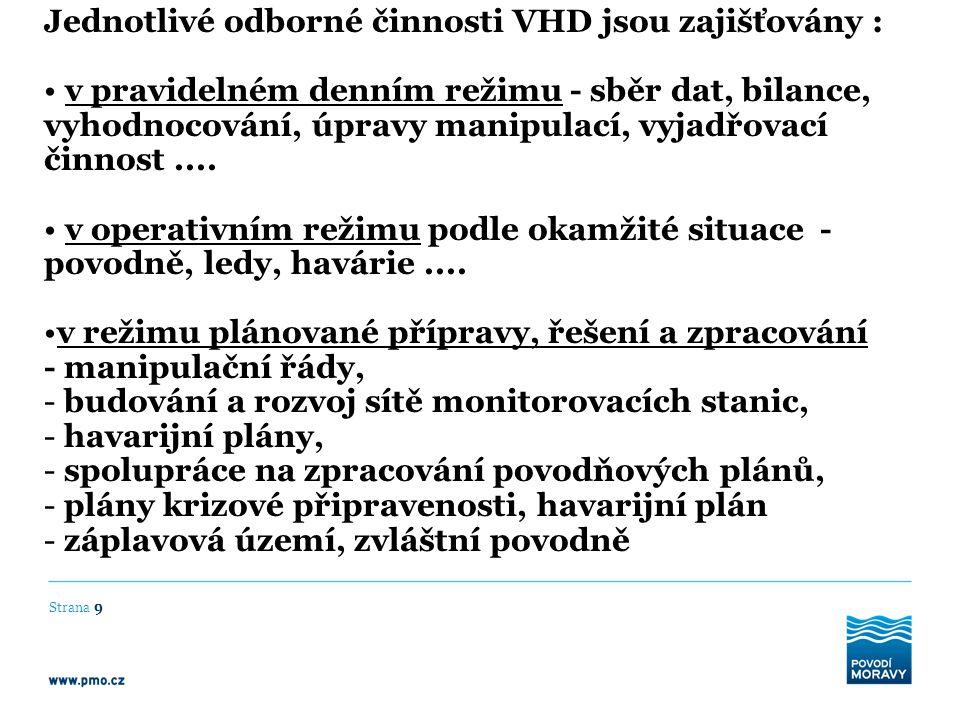 Strana 40 VD Luhačovice – preventivní předpuštění nádrže nařízené předpuštění nádrže dle výstrahy max.