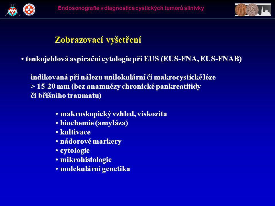 EUS-FNAB Endosonografie v diagnostice cystických tumorů slinivky
