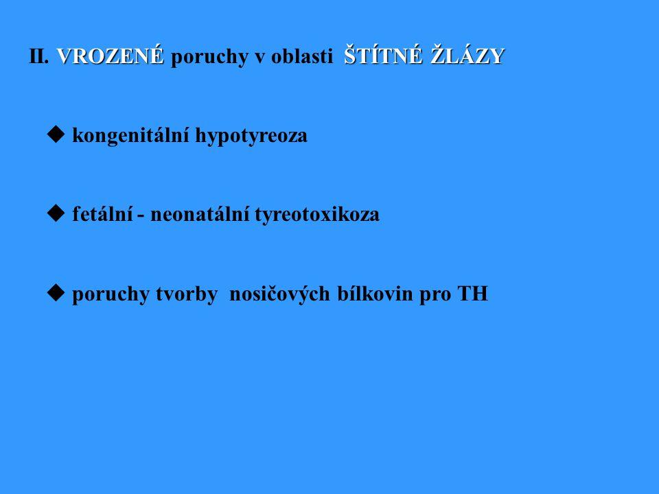VROZENÉŠTÍTNÉ ŽLÁZY II.
