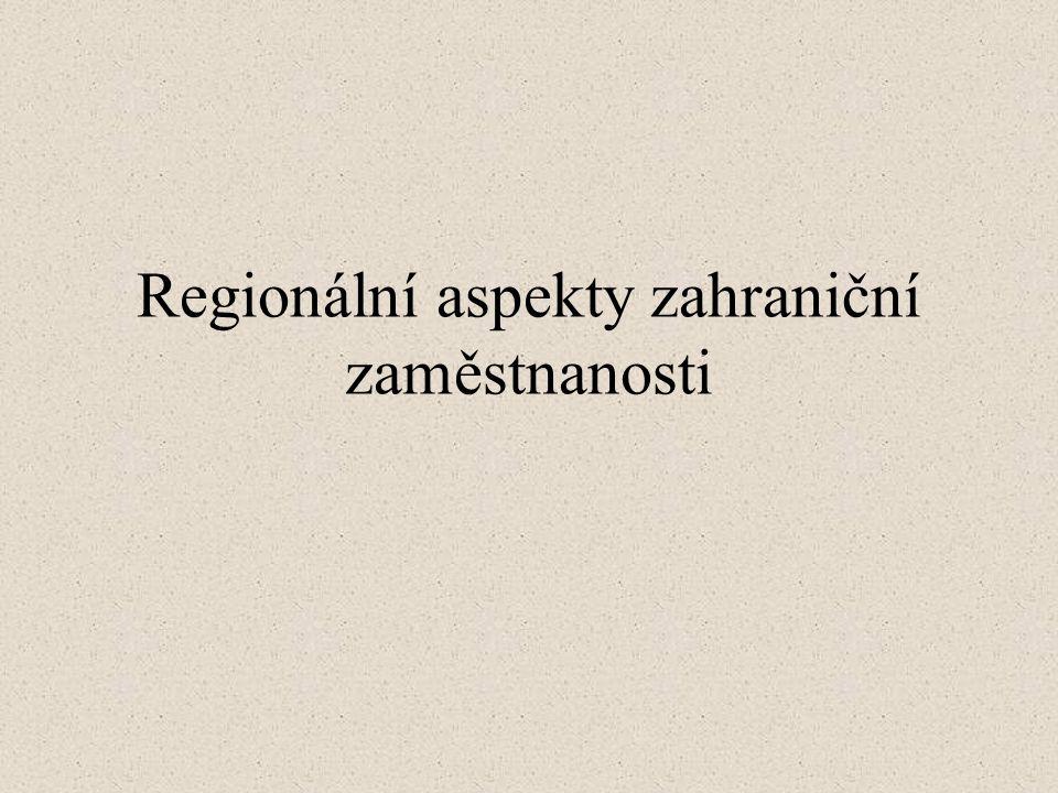 Regionální aspekty zahraniční zaměstnanosti