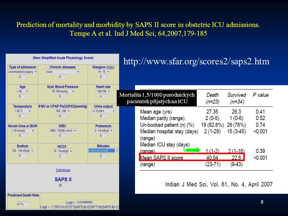 20089 Doporuční OAGBI Why Mothers Die 2000-2002 (Brit J Anaesth 2005) Včasné rozpoznání vzniku kritického stavu Nástup bývá maskován přítomností fyziologických reserv –mírná tachykardie, mírná hypotense, teplá periferie bývá fyziologická •tokolytika –tachypnoe (časné znamení nástupu kritického onemocnění) –klesající trend SpO2 : indikace pro arteriální krevní plyny –metabolická acidoza ( malá pufrovací reserva ) –Plán u odmítaček krve¨
