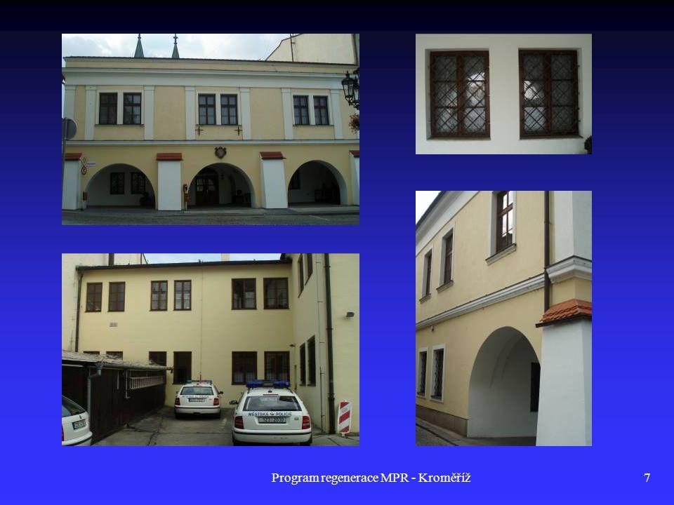 Program regenerace MPR - Kroměříž28 Dům č.p.192, Riegrovo nám.