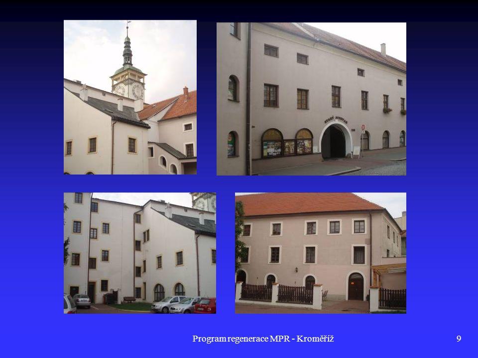 Program regenerace MPR - Kroměříž50 Dům č.p.150, Riegrovo nám.