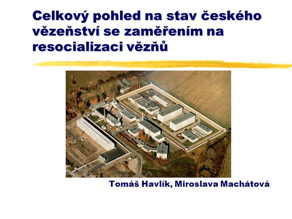 Celkový pohled na stav českého vězeňství se zaměřením na resocializaci vězňů Tomáš Havlík, Miroslava Machátová