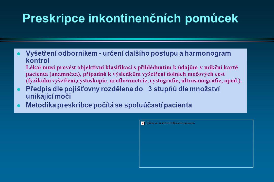  · na Poukaze může být předeps á n pouze jeden druh ZP (pomůcky pro inkontinentn í ) s možností předeps á n í v í ce poukazů, l · pro předpis je směrodatný ú daj o stupni inkontinence v n á vaznosti na finančn í limit,  · absorpční pomůcky ponechat na těle pacienta maxim á lně 8 hodin,  · při preskripci nesm í doj í t k překročen í limitů (množstevn í a finančn í ) pro jednotlivé ZP  · o vystaven í Poukazu mus í být proveden z á znam v dokumentaci poji š těnce s uveden í m stupně inkontinence a ú daj o množstv í předepsaných ZP (pomůcek).