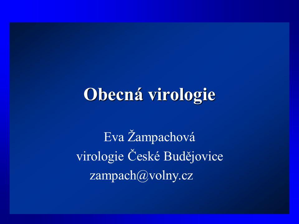 Obecná virologie Eva Žampachová virologie České Budějovice zampach@volny.cz