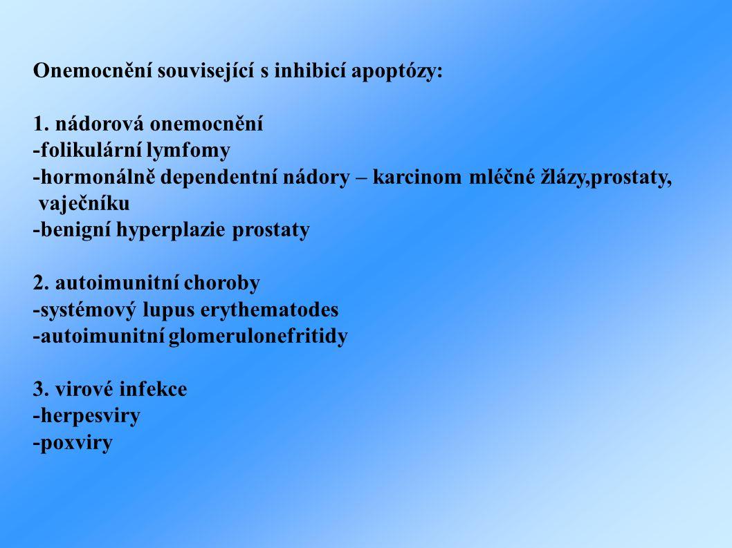 Onemocnění související s inhibicí apoptózy: 1.