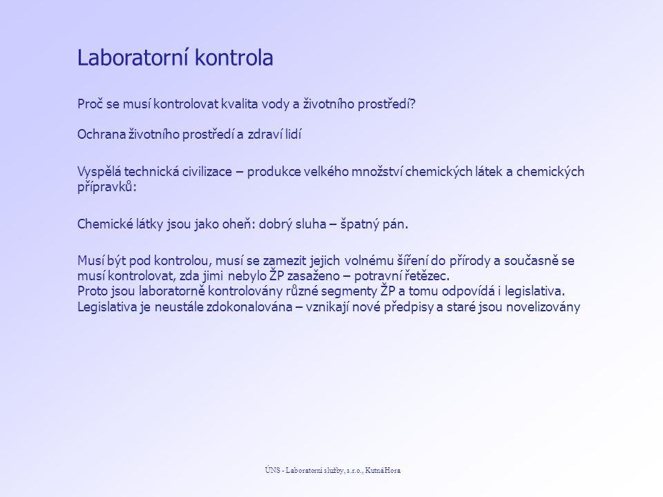 Odpadní vody ÚNS - Laboratorní služby, s.r.o., Kutná Hora Příloha č.
