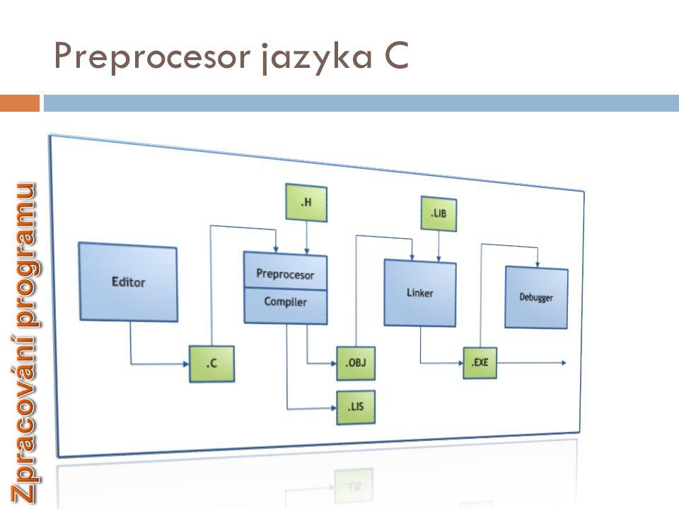 Preprocesor jazyka C