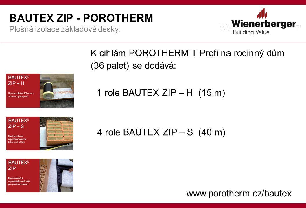 BAUTEX ZIP - POROTHERM Plošná izolace základové desky.