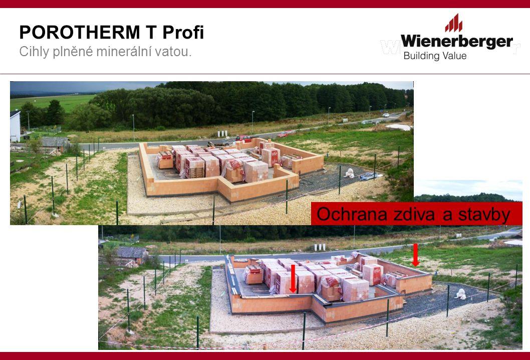 POROTHERM T Profi Cihly plněné minerální vatou. Ochrana zdiva a stavby