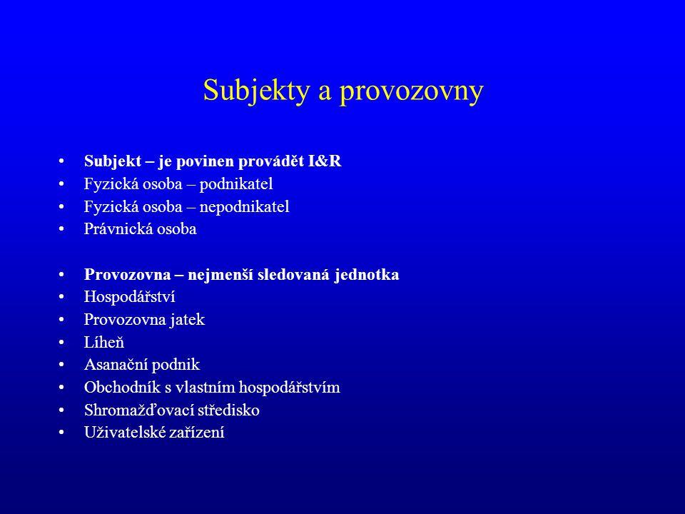 Předávání dat do databáze MZe před spuštěním IZR ČMSCH SVS ČR ČPI SZIF MZe IRZv - integrovaný registr zvířat ….