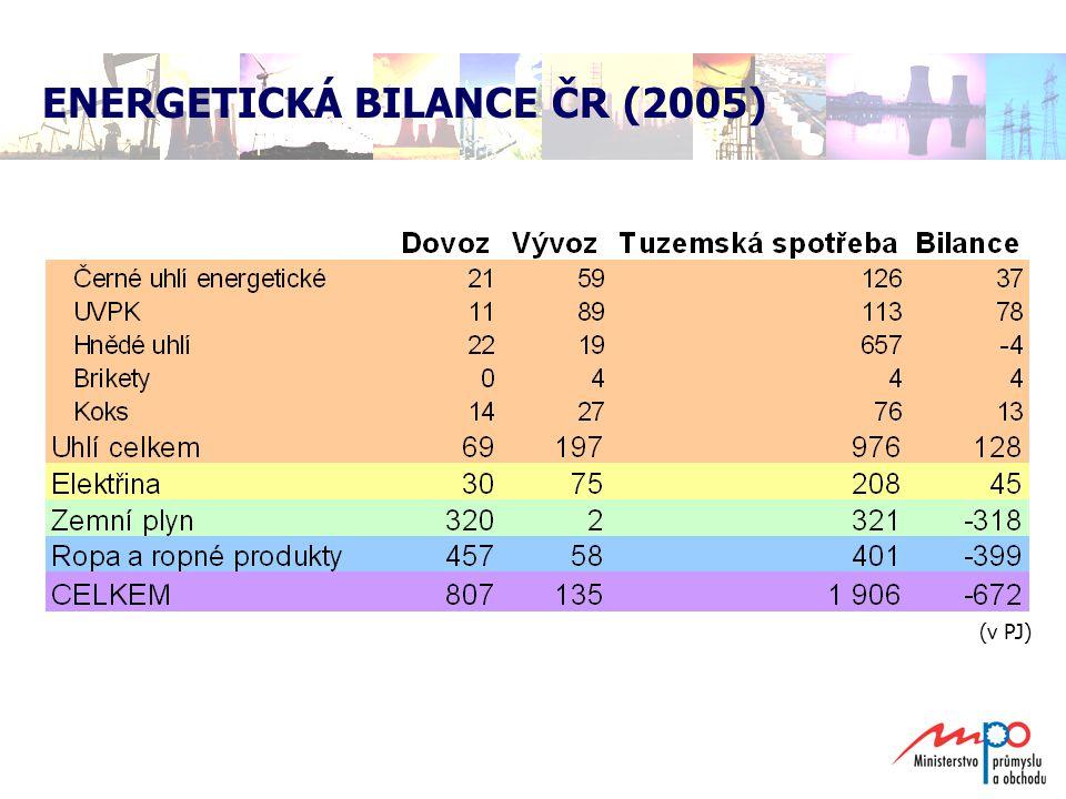  spotřeba elektrické energie postupně vzrůstá:  1993 – 47 765 GWh  2005 – 57 664 GWh  postupně vzrůstá také spotřeba ropy:  1993 – dovezeno 6 094 tis.