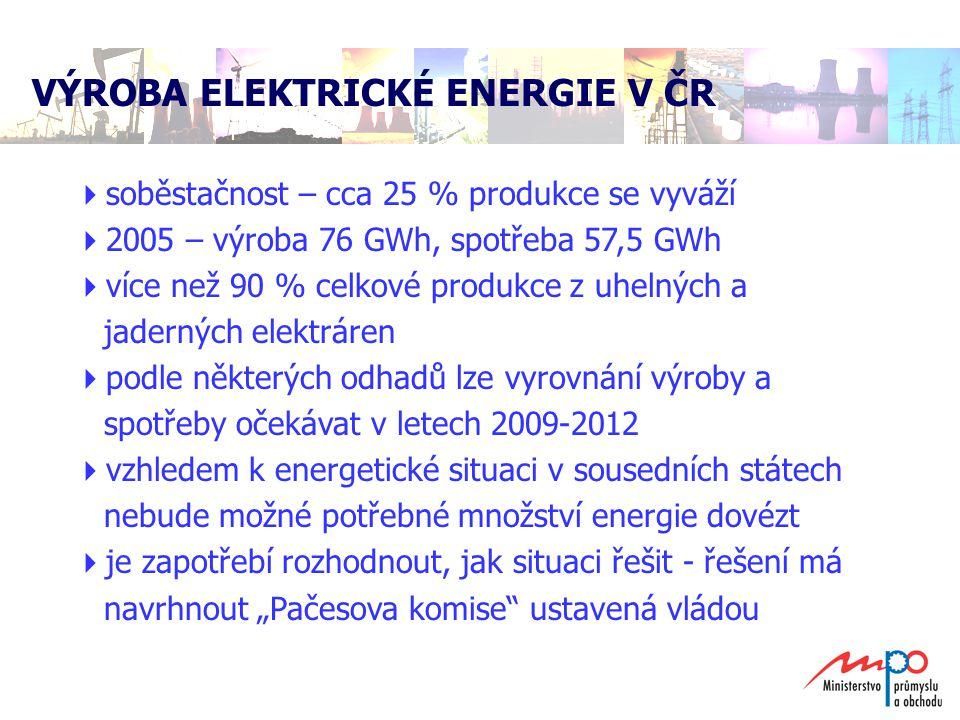  dvě jaderné elektrárny (technicko-bezpečnostní životnost 60 let)  celkové dodávky cca 24 tis.