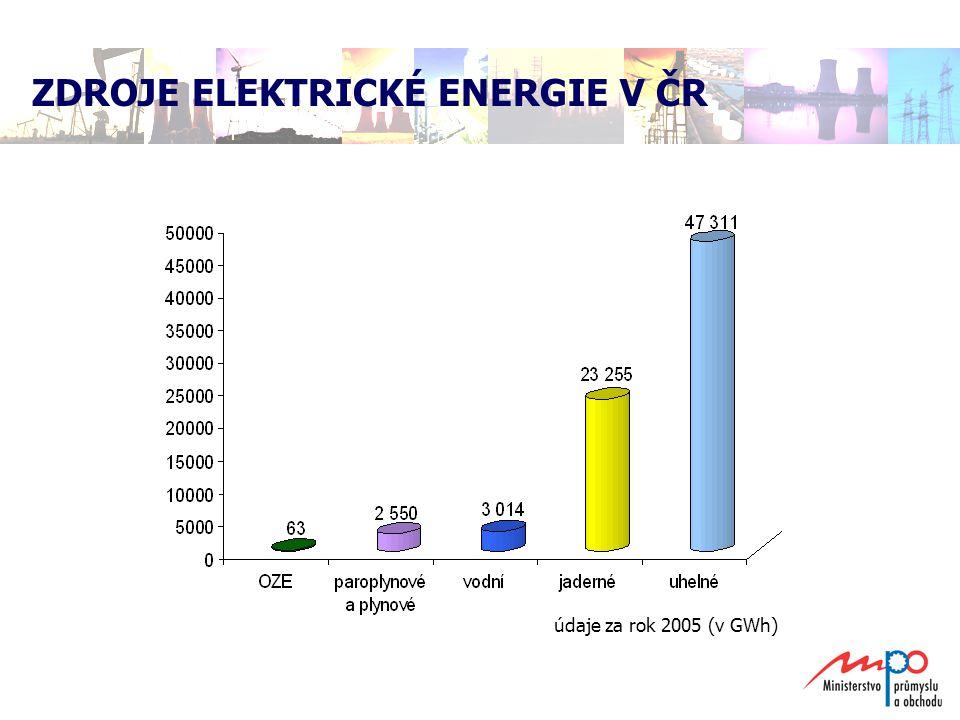  pokračování programu rekonstrukce a zvýšení výkonu hnědouhelných elektráren (retrofity)  eventuálně výstavba dalších energetických zdrojů  energetické úspory – nelze přeceňovat, s růstem HDP roste i spotřeba elektřiny  obnovitelné zdroje energie – jako doplněk, nelze očekávat, že pomocí OZE pokryjeme rostoucí spotřebu  výstavba plynových elektráren – zvýšení energetické závislosti na Rusku MOŽNOSTI ŘEŠENÍ NEDOSTATKU ELEKTŘINY
