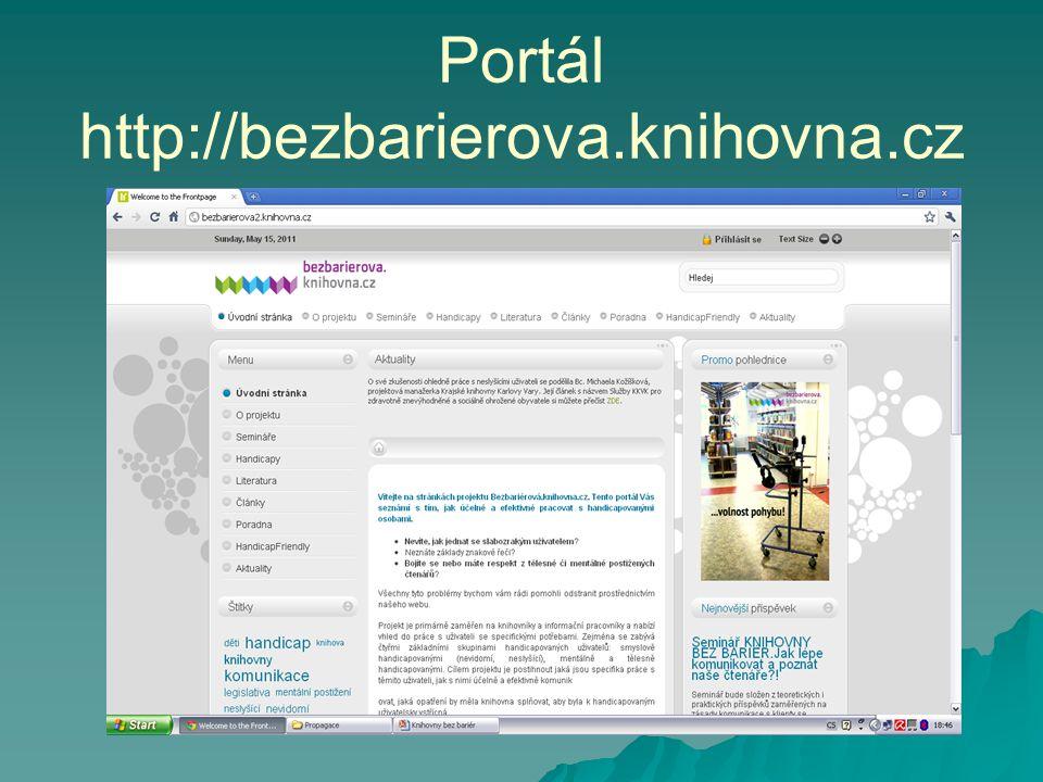 Portál http://bezbarierova.knihovna.cz