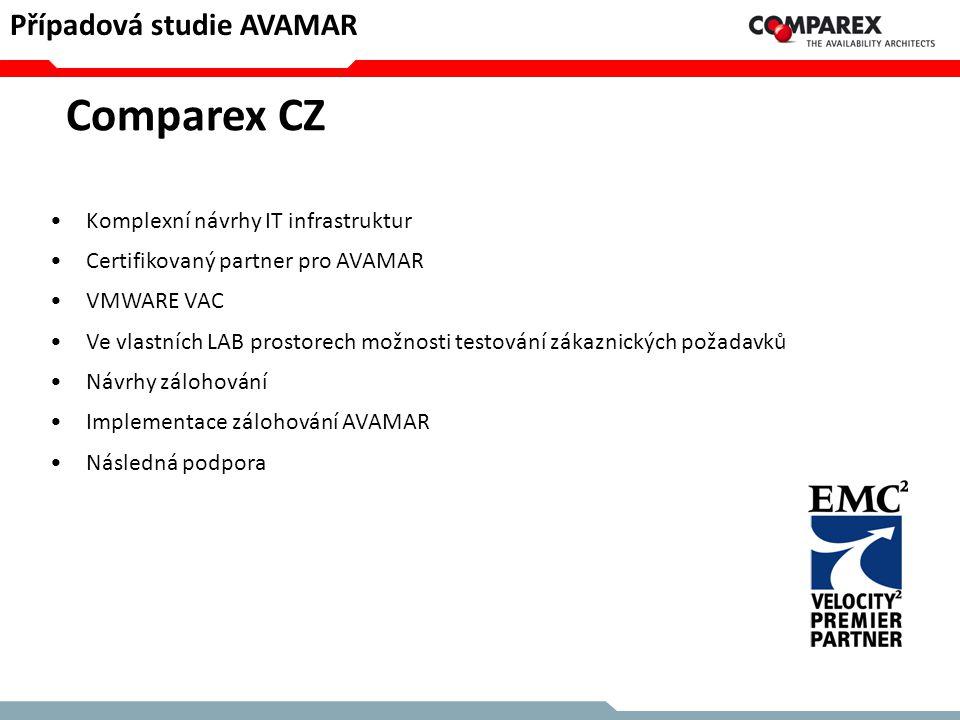 •Komplexní návrhy IT infrastruktur •Certifikovaný partner pro AVAMAR •VMWARE VAC •Ve vlastních LAB prostorech možnosti testování zákaznických požadavk