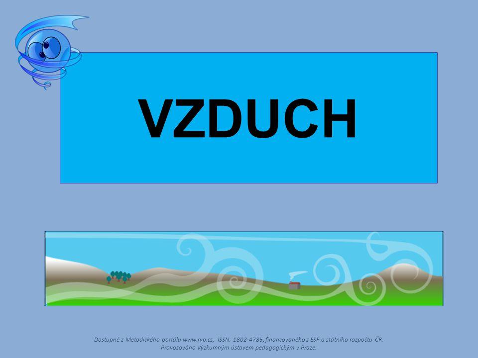 VZDUCH Dostupné z Metodického portálu www.rvp.cz, ISSN: 1802-4785, financovaného z ESF a státního rozpočtu ČR. Provozováno Výzkumným ústavem pedagogic